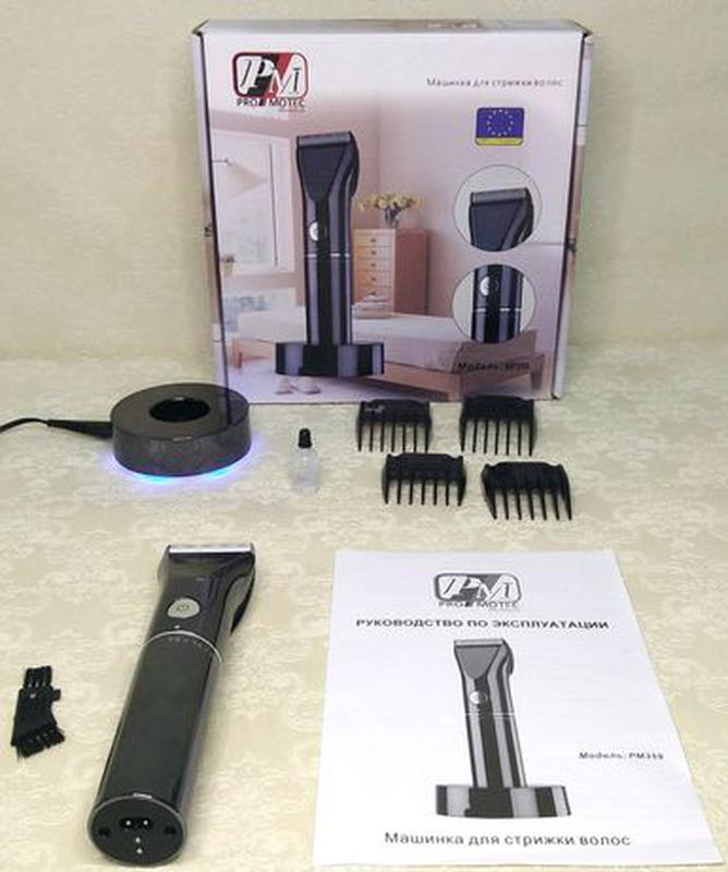 Машинка-триммер для стрижки волос,аккумуляторная,профессиональ... - Фото 2