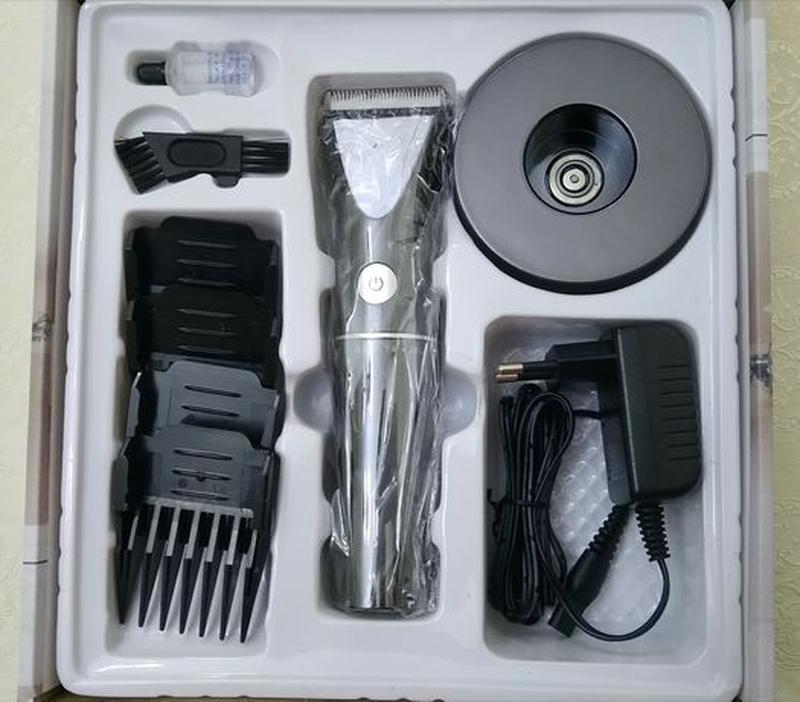 Машинка-триммер для стрижки волос,аккумуляторная,профессиональ... - Фото 3