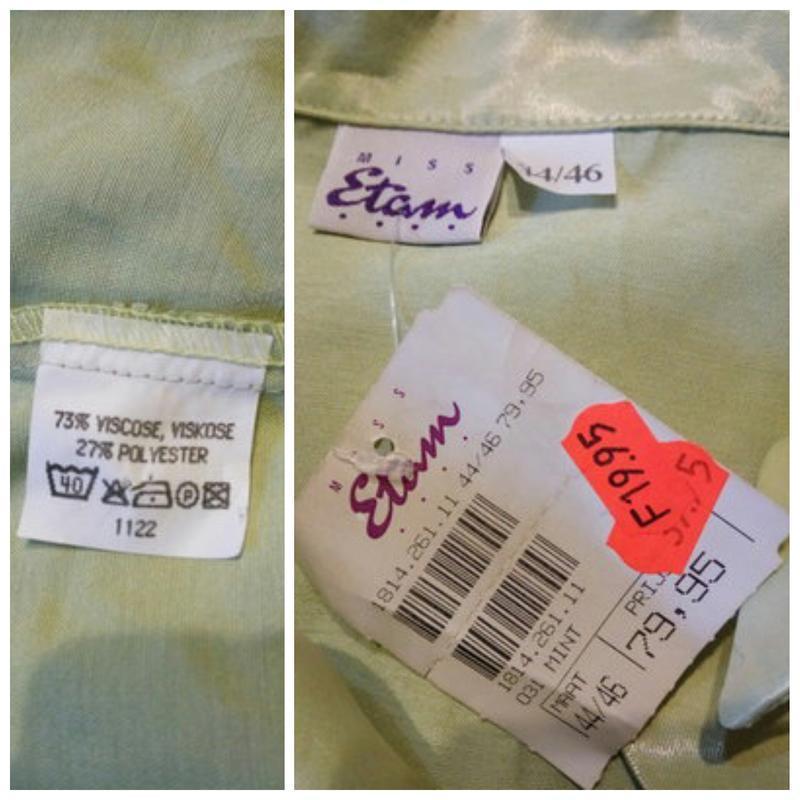 Etam 73% вискоза . атласная блуза блузка блузон рубашка сорочк... - Фото 3