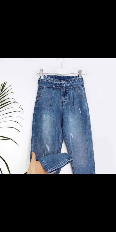 Новые джинсы с поясом мом - Фото 3