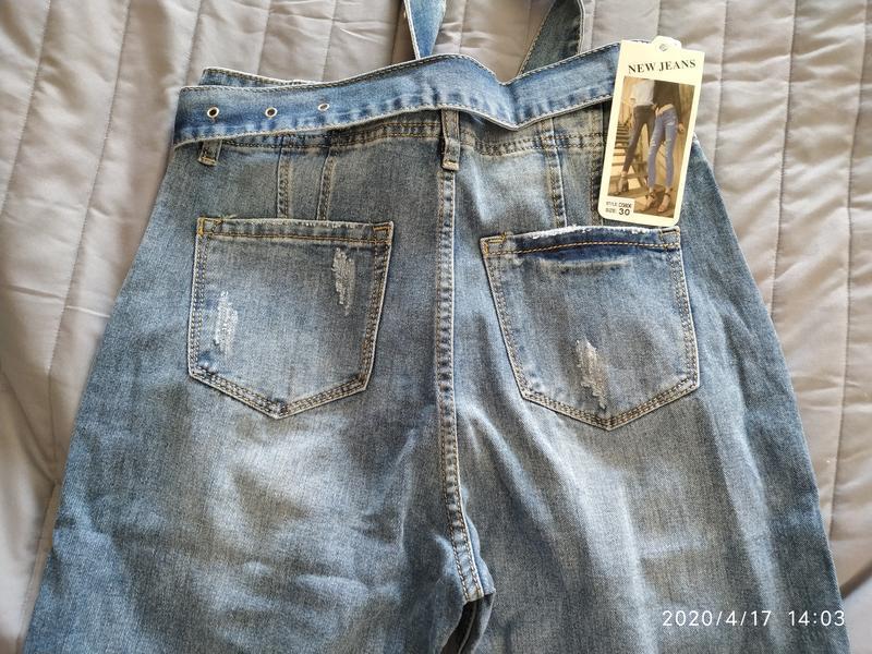 Новые джинсы с поясом мом - Фото 6