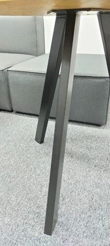 Стол Loft V-215, Д900. Столешница цельноламельный ясень 40мм. ... - Фото 5
