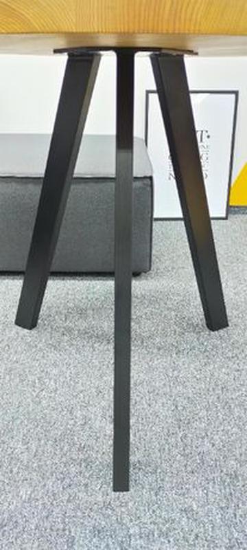 Стол Loft V-215, Д900. Столешница цельноламельный ясень 40мм. ... - Фото 6