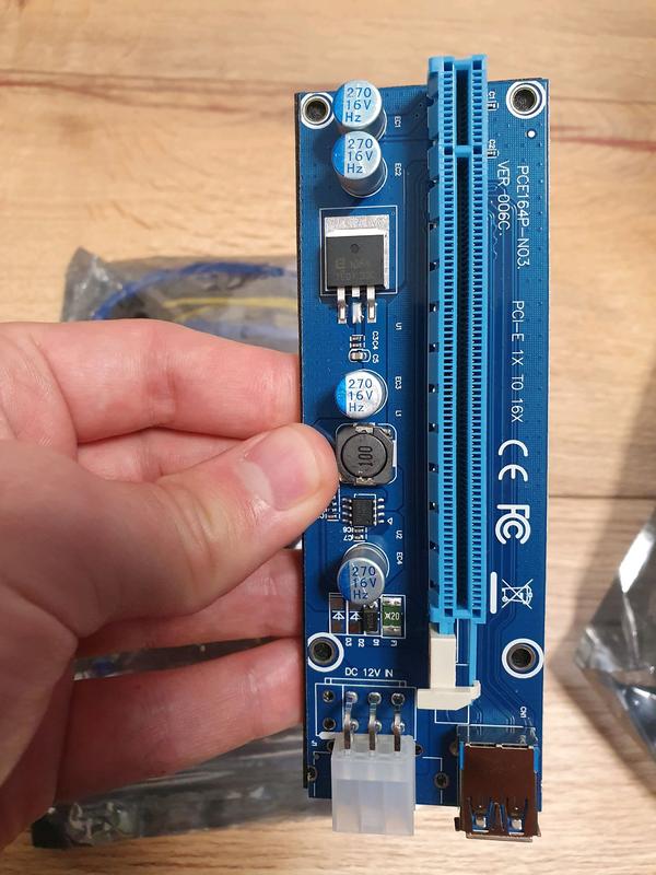 Райзер Riser 6 pin molex есть опт новые, гарантия, 60 см, адаптер - Фото 2