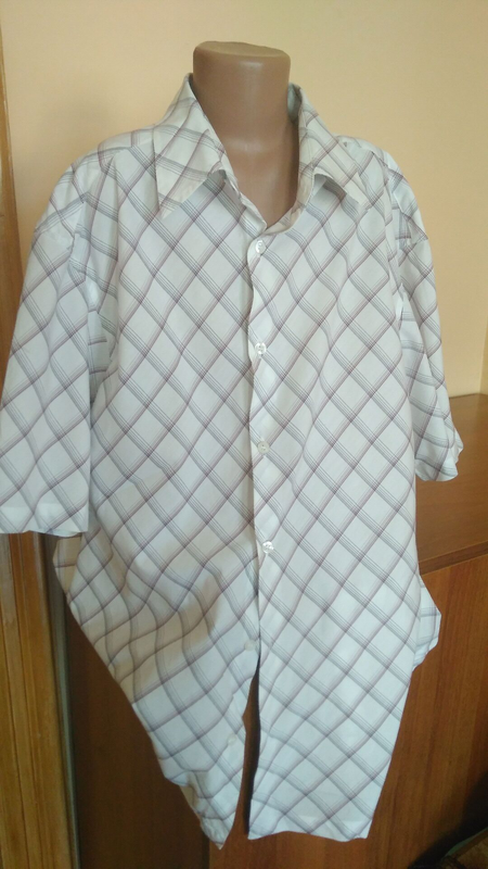 Сорочка чоловіча на короткий рукав, рубашка мужская