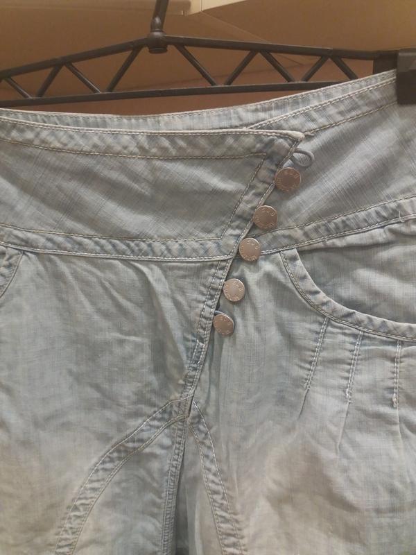 ;джинсовые бриджи            распродажа - Фото 4