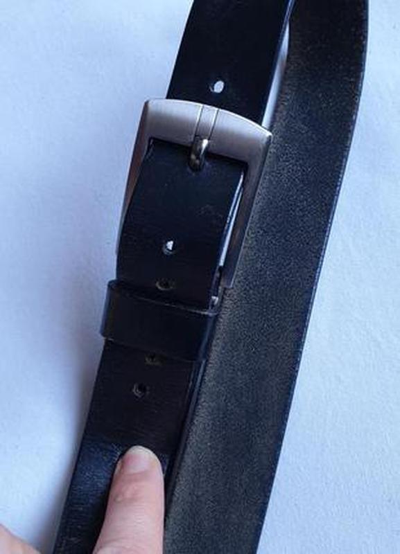 Ремень кожаный - Фото 5