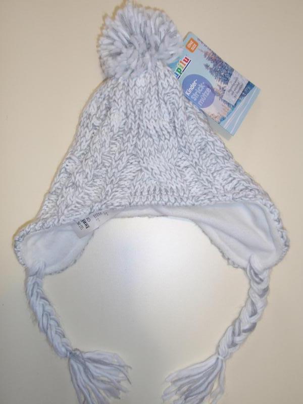Красивая теплая шапочка шапка на флисе для девочки бренд lupil...