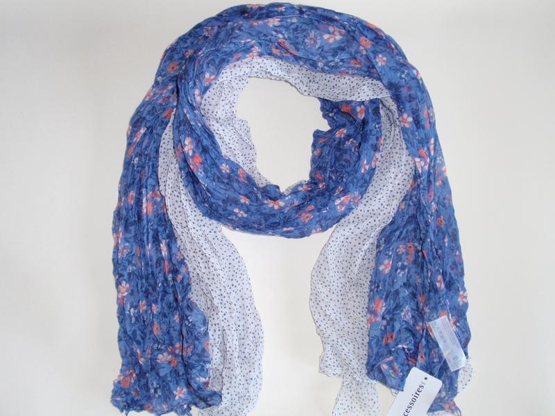 Красивый шарф палантин в цветы горох accessoires c&a, германия