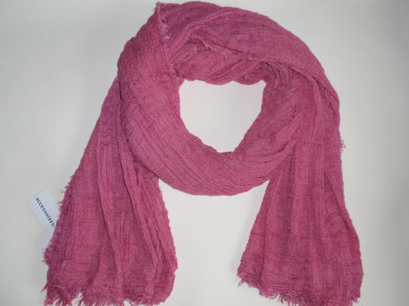 Красивый объемный шарф палантин однотонный жатка accessoires c...
