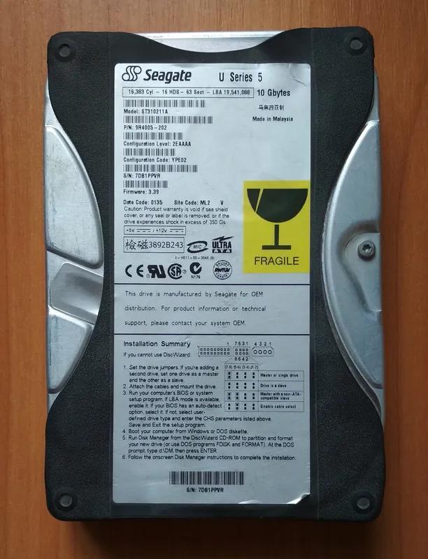 Жесткий диск HDD Seagate ST310211A 10 Гб IDE
