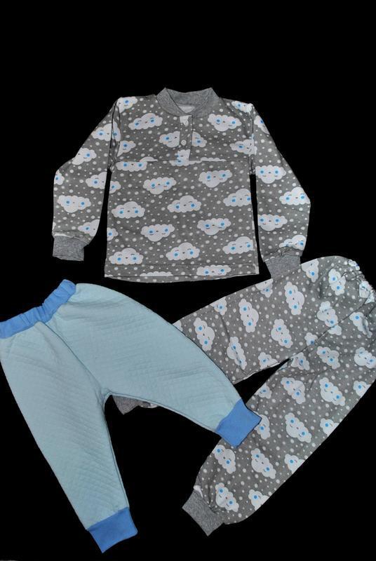 Пижама  комплект 3 в 1 штаны 2шт и кофта на мальчика 4-5 лет т...