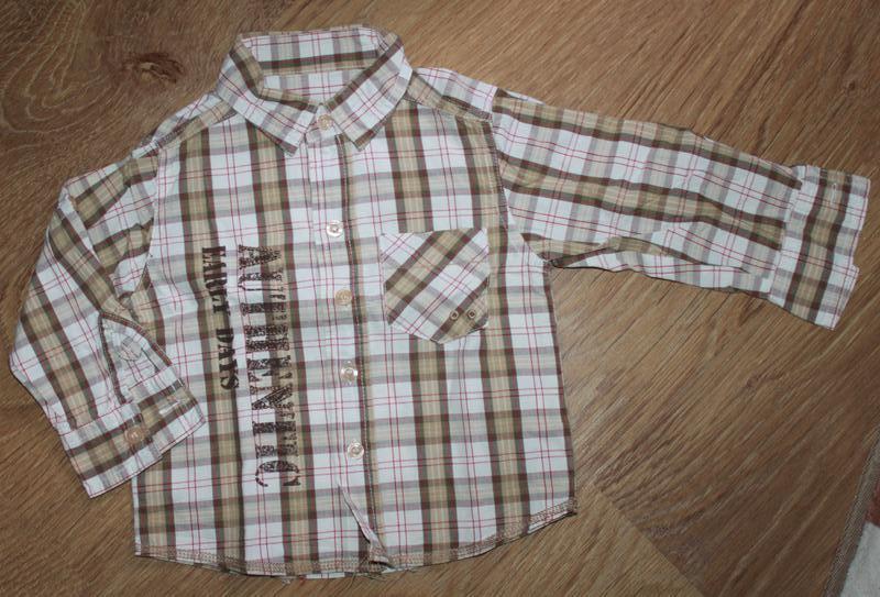 Рубашка в клетку early days на 12-18 мес. хлопок