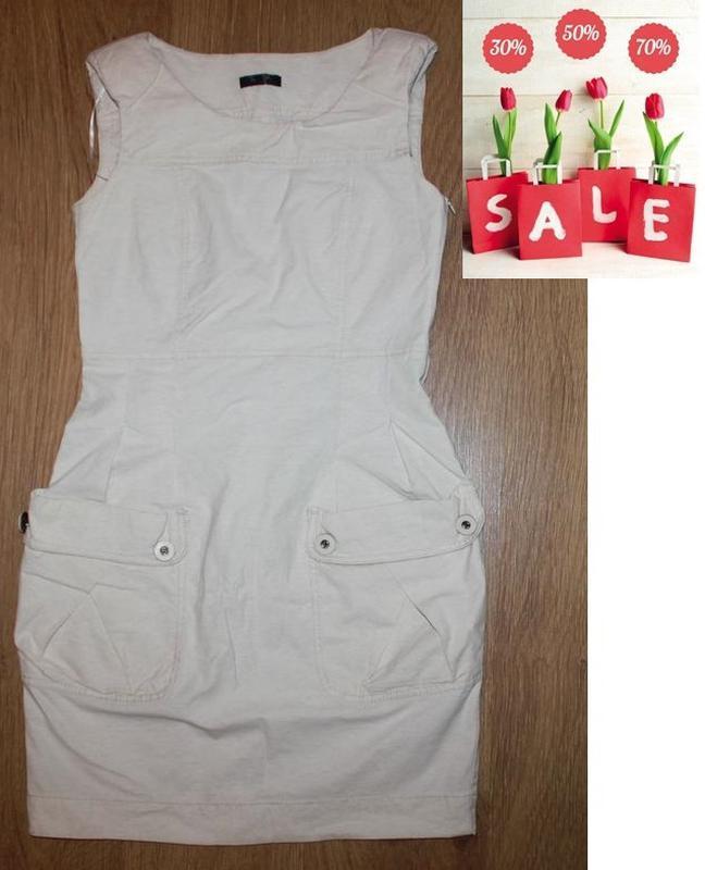 Платье сарафан с накладными карманами savida 36-38р. бохо мега...