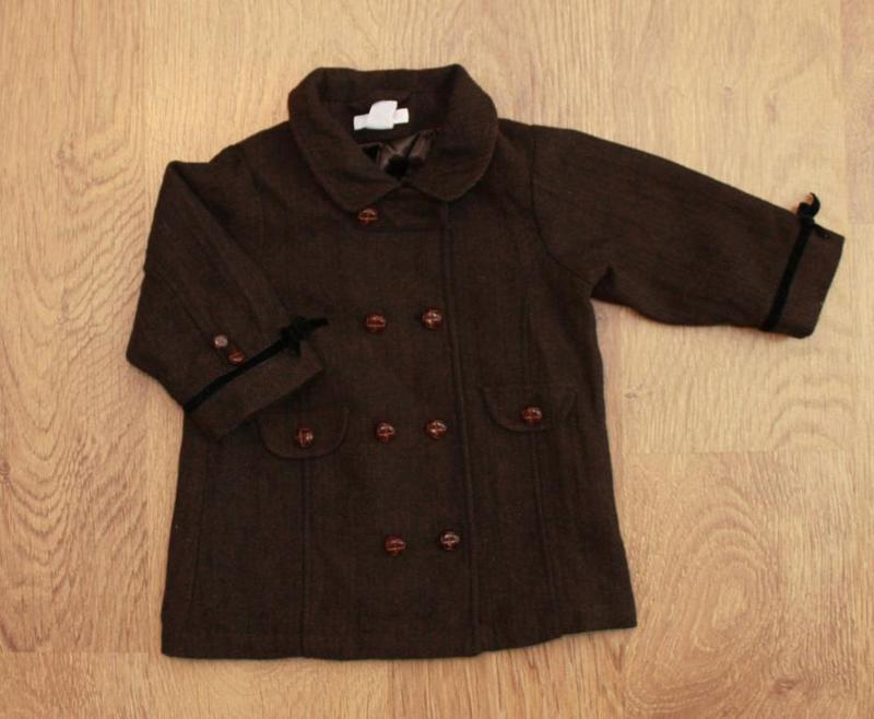 Пальто демисезонное в английском стиле h&m на 9-12 мес. шерсть...