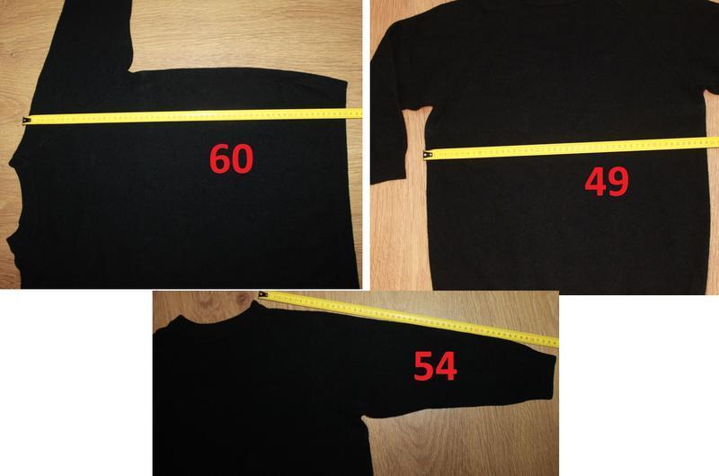 Черный шерстяной свитер 38-40р. 100% шерсть италия - Фото 2