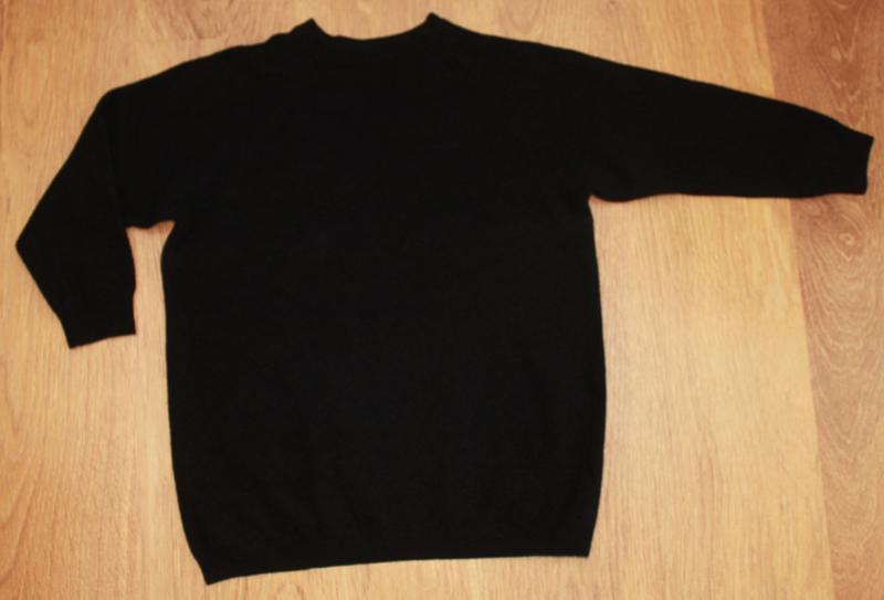 Черный шерстяной свитер 38-40р. 100% шерсть италия - Фото 4