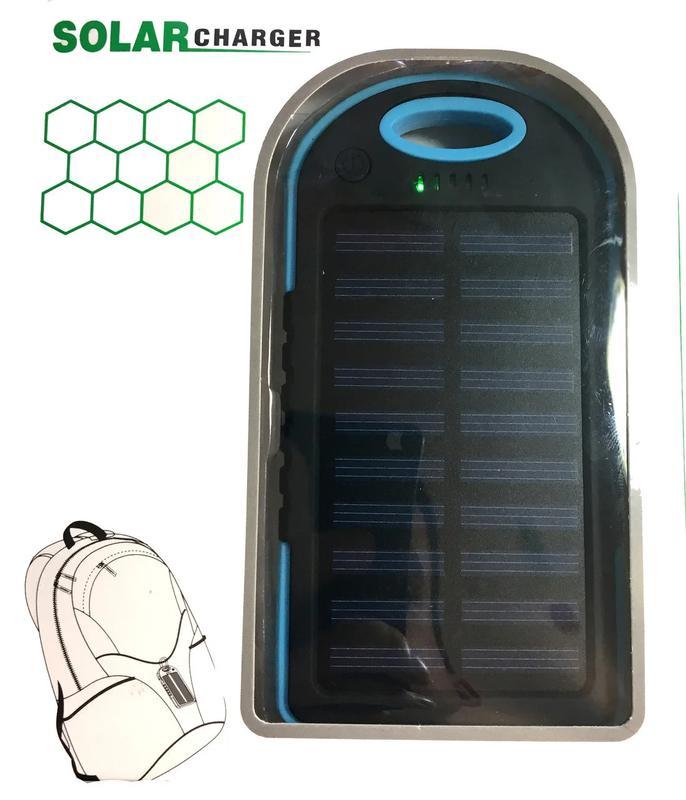 Power Bank Solar 30000 mAh + Фонарь павер банк солнечный акк - Фото 4
