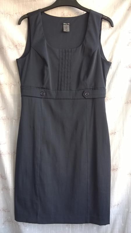 Итальянское синее платье-футляр, отличное состояние