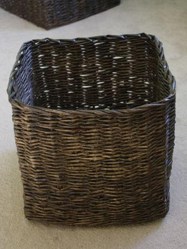 Плетеная корзина короб