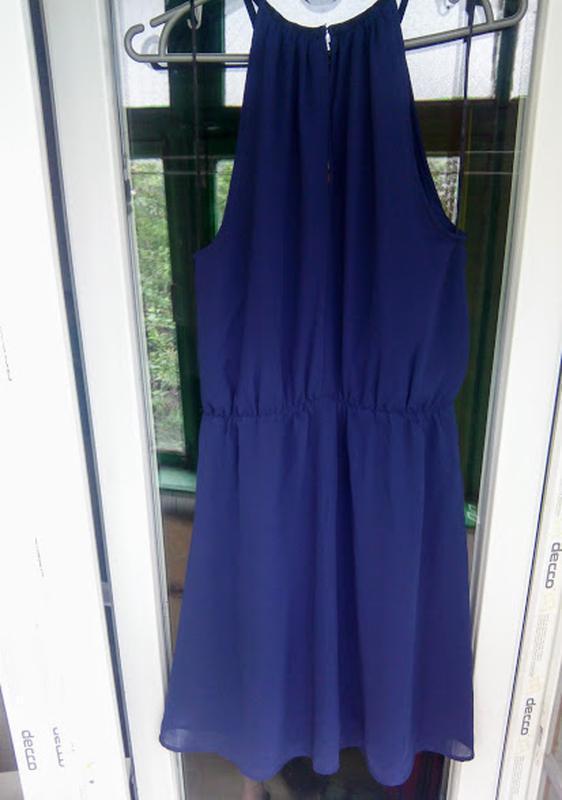 Нарядное летнее платье h&m открытые плечи коктейльное вечернее - Фото 2