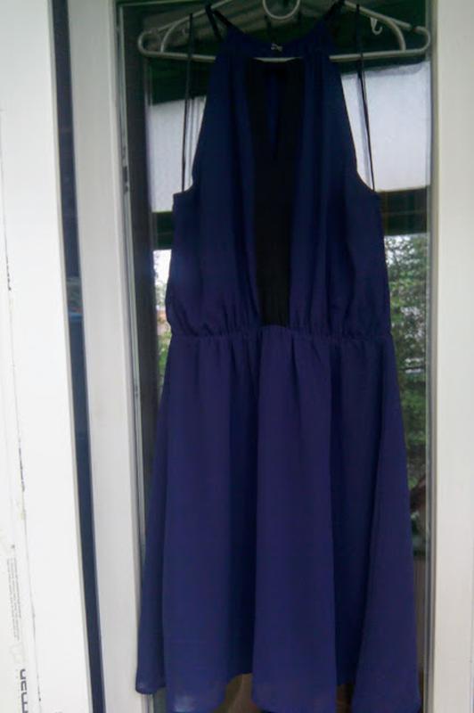 Нарядное летнее платье h&m открытые плечи коктейльное вечернее - Фото 4