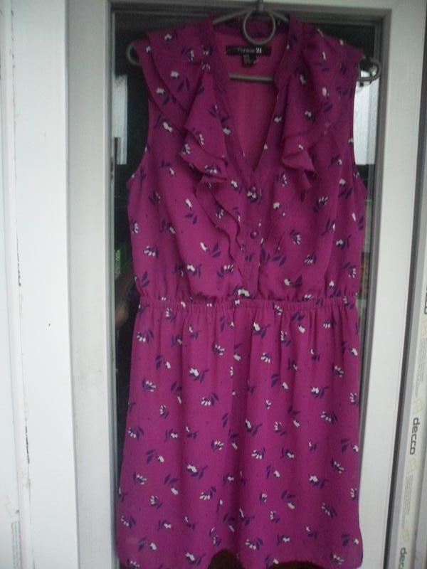 Летнее нарядное платье с воланами в цветочный принт forever 21...