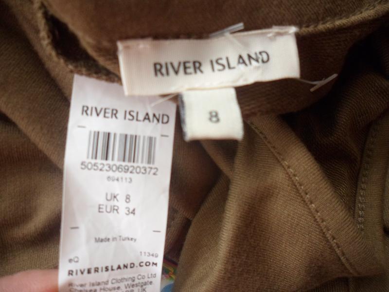 Платье футболка цвета хаки с чокером river island прямого кроя... - Фото 2