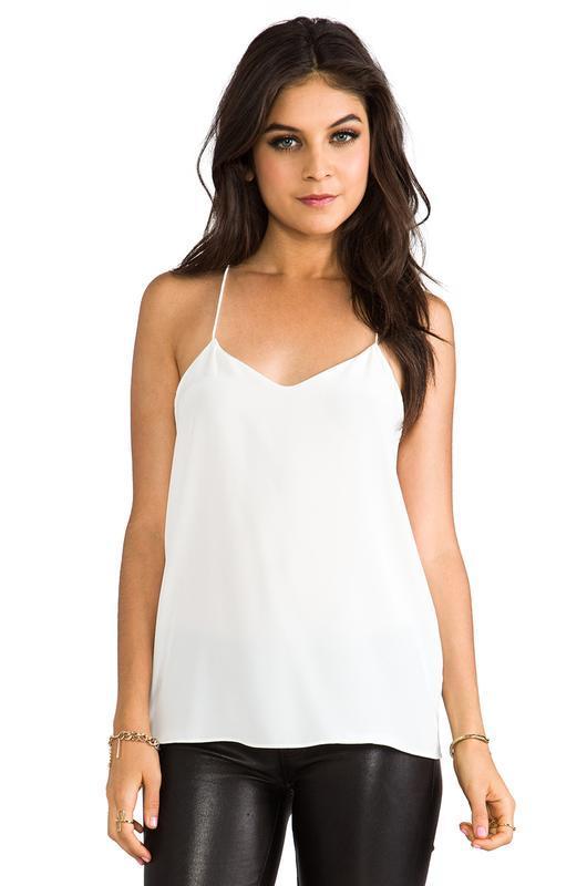 Белая майка на тонких бретелях топ блуза next 12 14 открытые п...