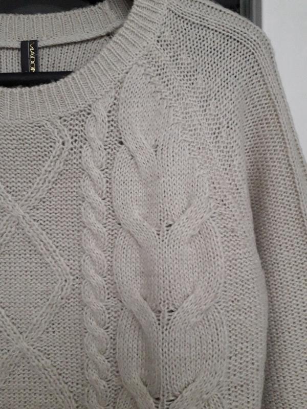 Женский вязаный пуловер madonna свитер джемпер демисезон осень... - Фото 2