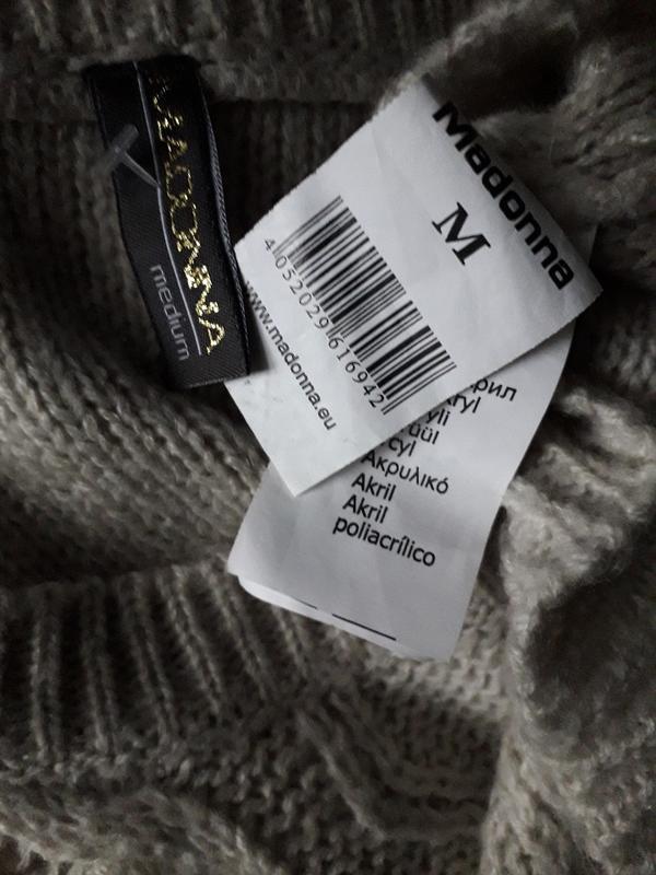 Женский вязаный пуловер madonna свитер джемпер демисезон осень... - Фото 3