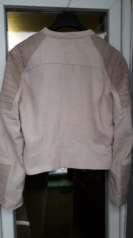 H&m короткая куртка косуха демисезон на молнии стеганая оверса... - Фото 5