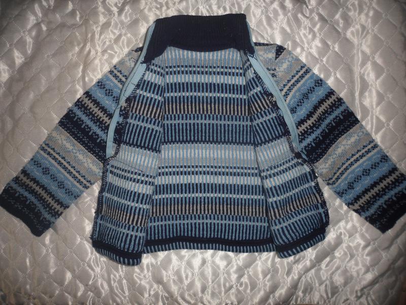 Теплая кофта мальчику девочке 2 3 года осень зима - Фото 2