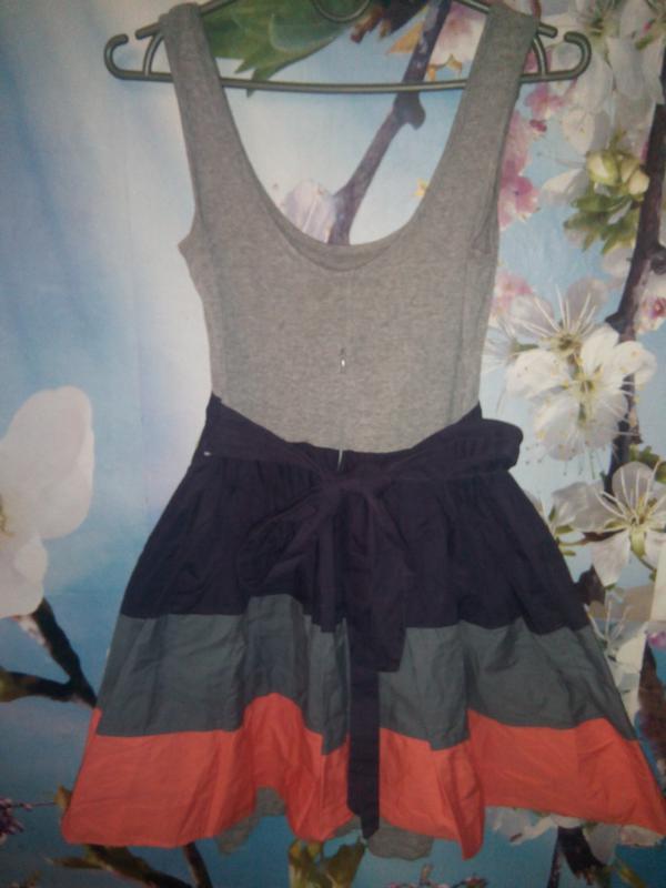 Женское летнее платье topshop пышная юбка в полоску - Фото 5
