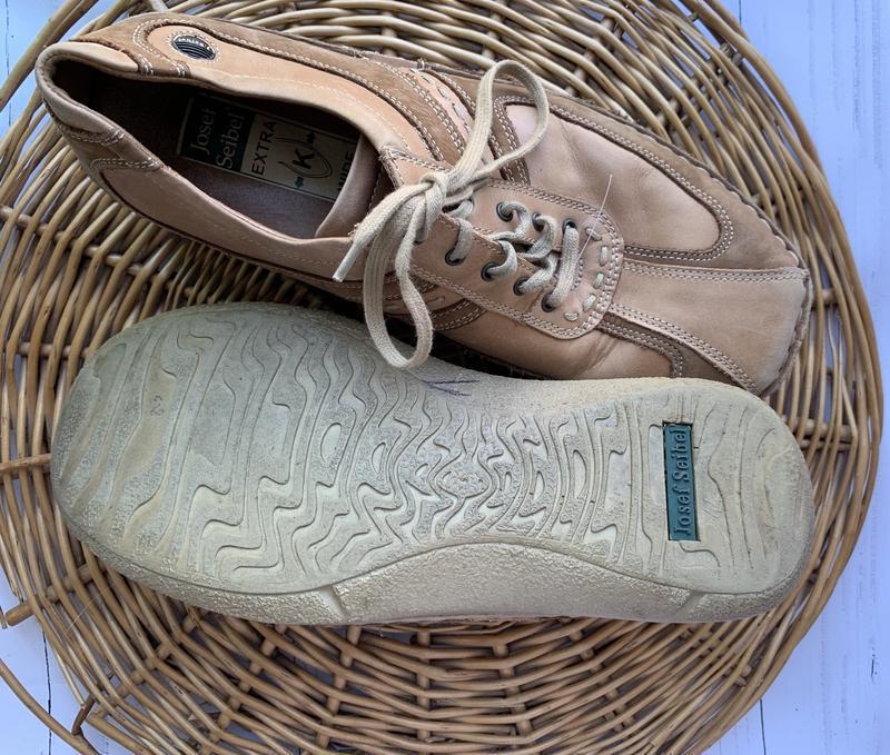 Мужские кожаные туфли josef seibel - Фото 2