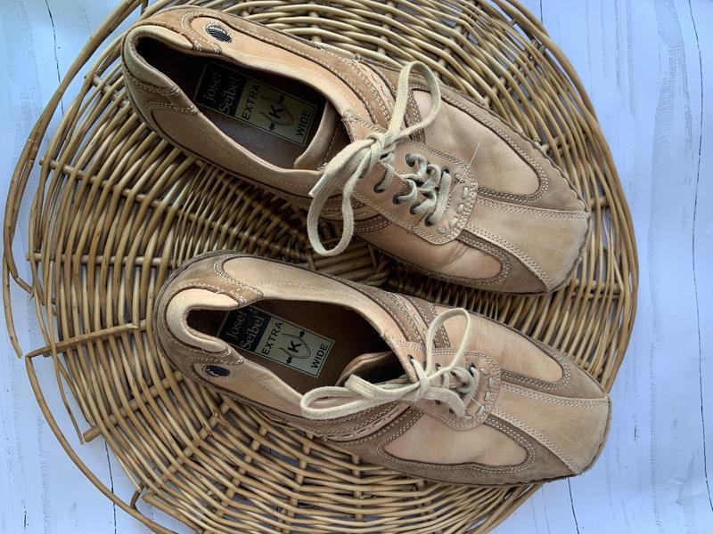 Мужские кожаные туфли josef seibel - Фото 3