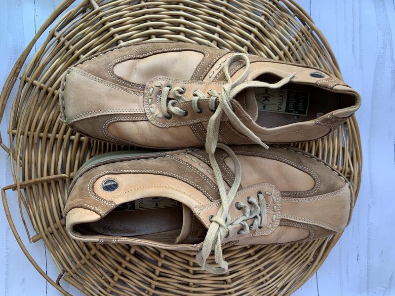 Мужские кожаные туфли josef seibel - Фото 4