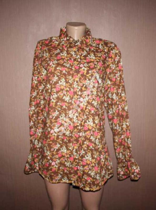 Стильная винтажная рубашка в цветочек №93 joe browns - Фото 2