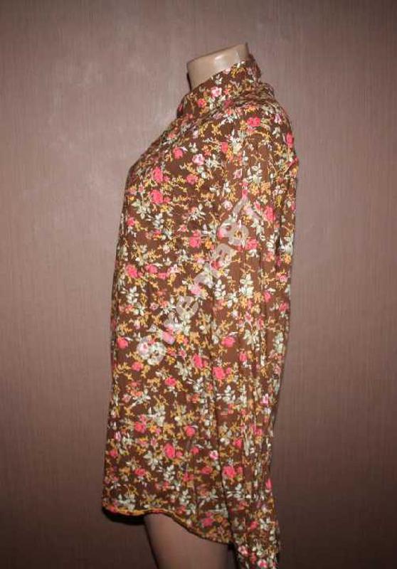 Стильная винтажная рубашка в цветочек №93 joe browns - Фото 3