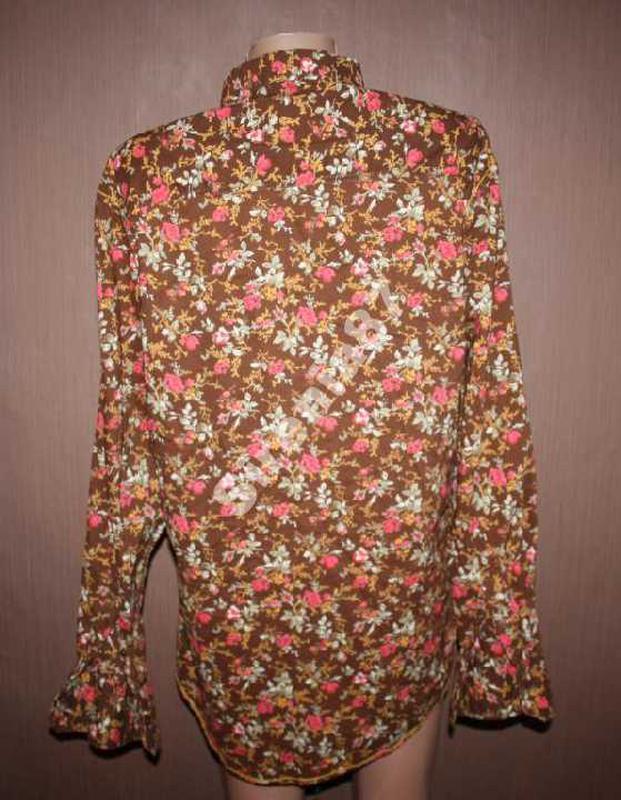 Стильная винтажная рубашка в цветочек №93 joe browns - Фото 4