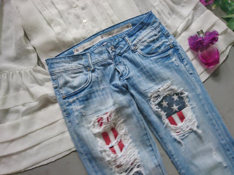 Актуальные рваные джинсы скинни высокий рост №267 - Фото 2