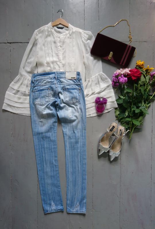 Актуальные рваные джинсы скинни высокий рост №267 - Фото 3