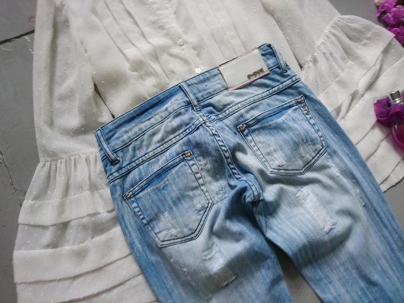 Актуальные рваные джинсы скинни высокий рост №267 - Фото 4