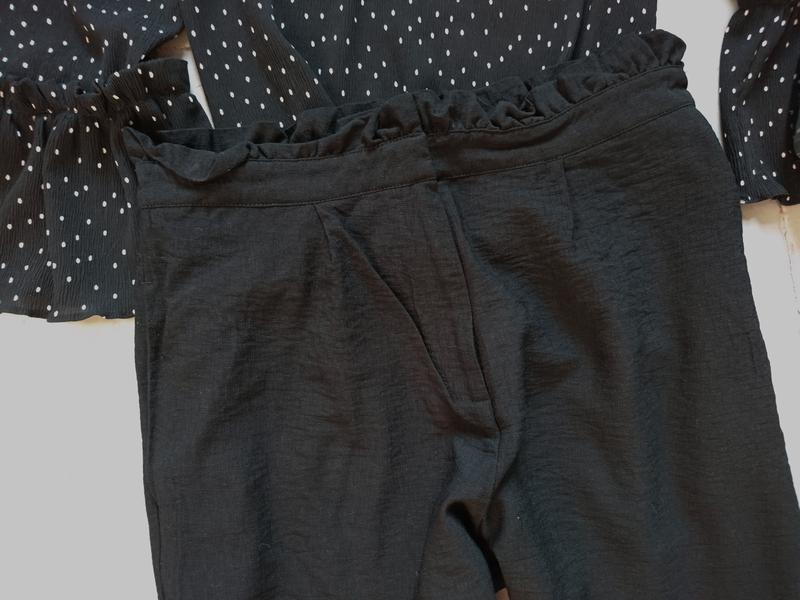 Актуальные укороченные зауженные брюки с высокой посадкой №314 - Фото 2