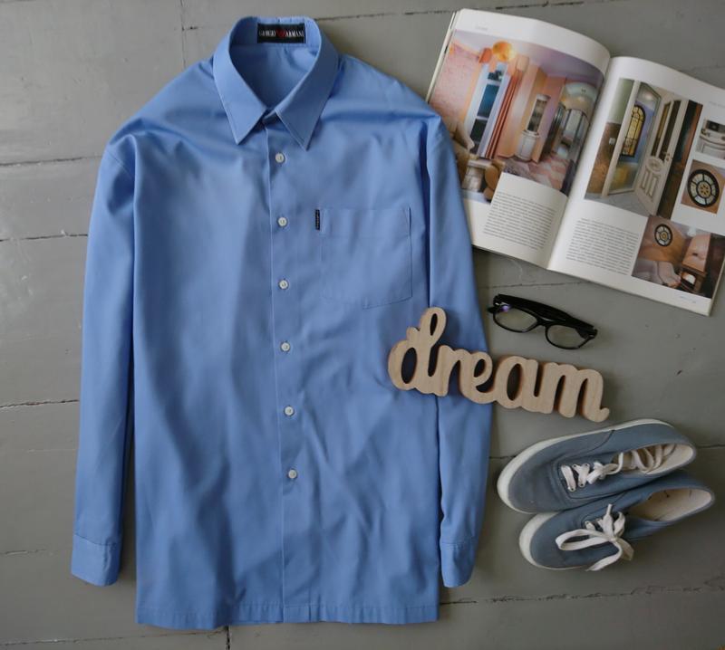 Базовая голубая рубашка №1