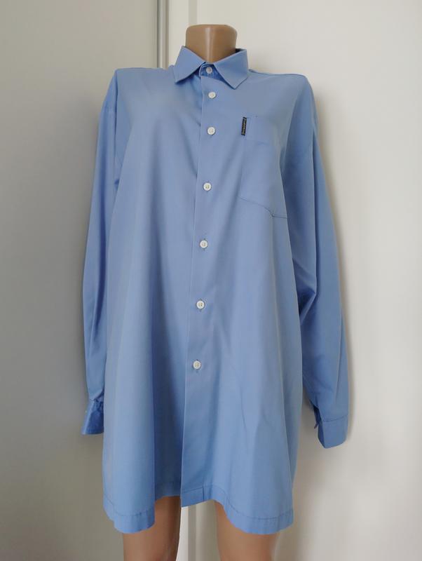Базовая голубая рубашка №1 - Фото 3
