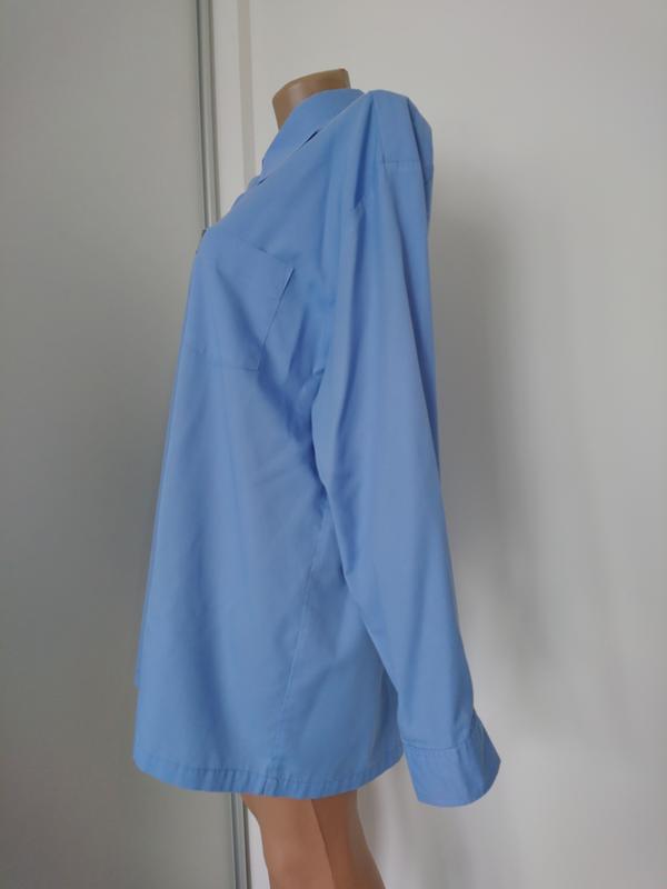 Базовая голубая рубашка №1 - Фото 4