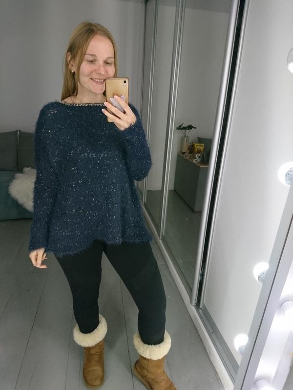 №133 стильный пушистый свитер травка с цепочкой boohoo - Фото 2