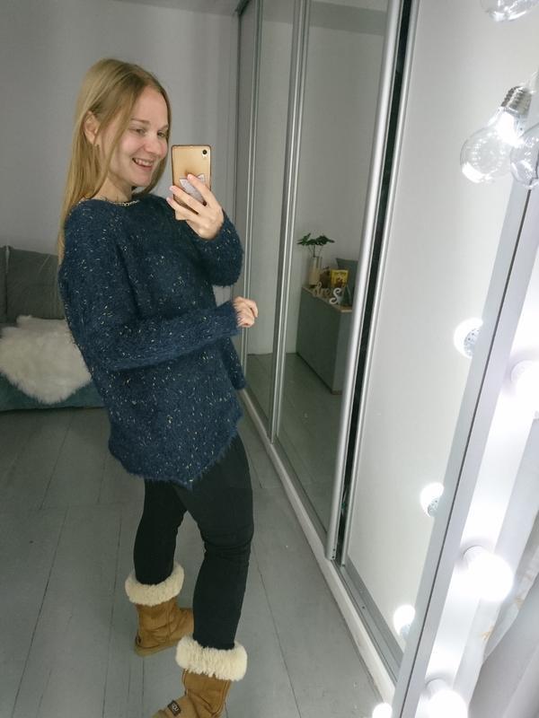 №133 стильный пушистый свитер травка с цепочкой boohoo - Фото 3