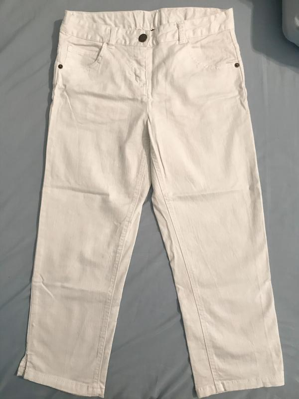 Білі штани джинси для дівчинки белые штаны